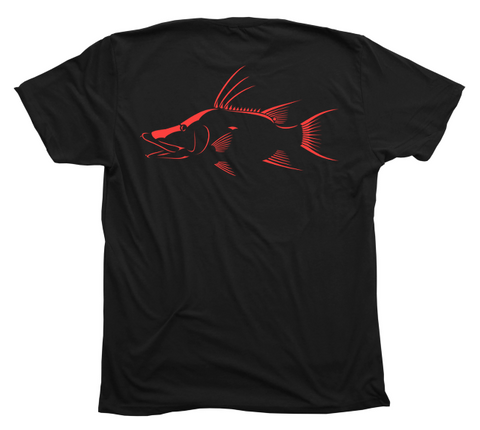 Hogfish T-Shirt - Hog Snapper Black Short Sleeve Diving T-Shirt
