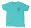 Hammerhead Shark Kids T-Shirt - Aqua Teal Shark Shirt - Front
