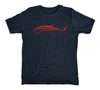 Bluefin Tuna Kids T-Shirt - Navy Kids Tuna Fishing Shirt - Front