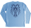 Spiny Lobster UV Shirt - Light Blue Long Sleeve Up To UPF 50
