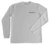 Grey UV Protective Long Sleeve Sea Turtle Shirt - Front Side