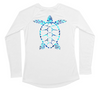 Womens Long Sleeve UV Water Camo Sea Turtle Swim Shirt