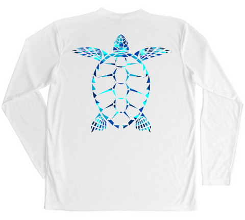 Men's Long Sleeve UV Water Camouflage Sea Turtle Swim Shirt