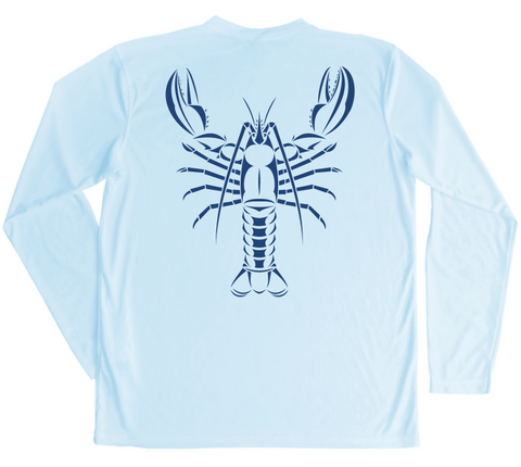 Maine Lobster Swim Shirt - Atlantic Lobster Long Sleeve Up To UPF 50
