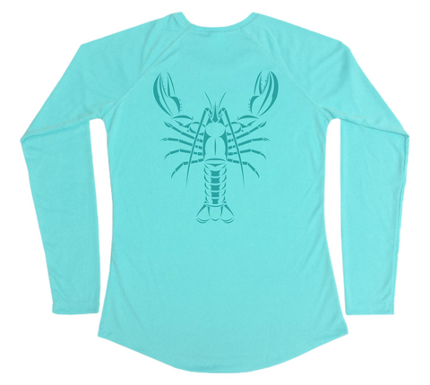 Maine Lobster Women's Sun Shirt - Atlantic Lobster Swim Shirt
