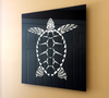 "Limited Edition Sea Turtle Metallic Art Print (18"" X 18"" / White on Black / PRE-ORDER ONLY)"