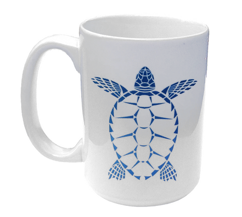 Sea Turtle Ceramic Mug | Scuba Diving 15 oz Coffee Mug