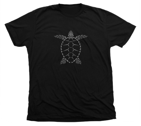 Sea Turtle T-Shirt - Black Loggerhead Turtle Shirt