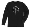Shark Zen Long Sleeve T-Shirt | Black Shark Tee Front Design