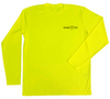 Safety Yellow Long Sleeve UV Shirt - Front Side