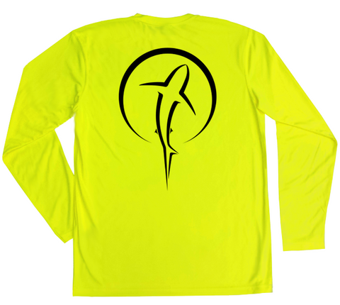 Safety Yellow Long Sleeve UV Shirt - Fishing Diving SUP