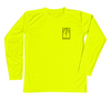Shark Safetly Yellow Long Sleeve Sun Shirt - Front