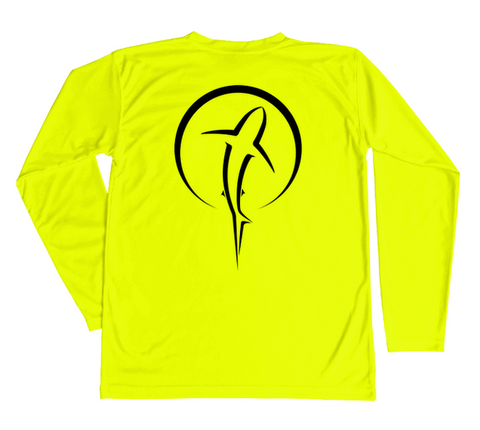 Kids Swim Shirt | Shark Zen Safety Yellow Long Sleeve Sun Shirt