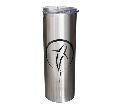 Shark Travel Tumbler | Scuba Diving Stainless Steel 20oz Mug
