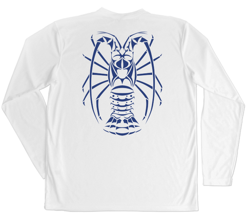 Spiny Lobster Performance Build-A-Shirt (Back / WH)