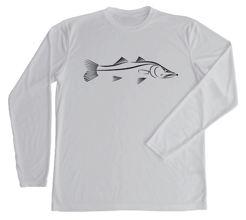 Snook Fishing Performance UV Shirt | Gray Long Sleeve
