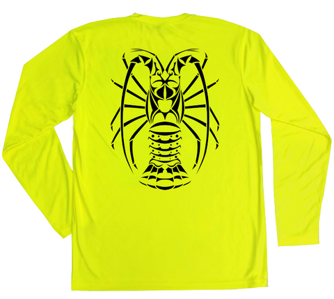 Scuba Diving Long Sleeve Shirt | Safety Yellow Lobster Swim Shirt