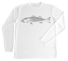 Striped Bass Performance Build-A-Shirt (Front / WH)