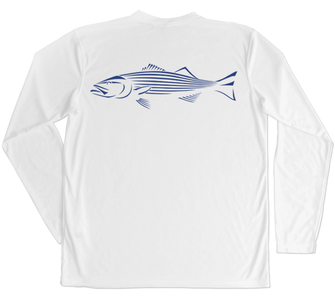 Striped Bass Performance Build-A-Shirt (Back / WH)