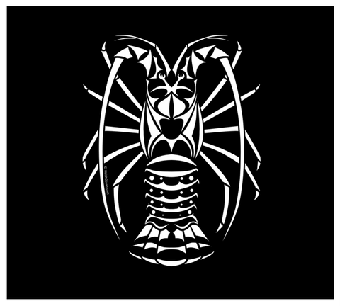 Spiny Lobster Decal - Florida Lobster Diver White Vinyl Sticker