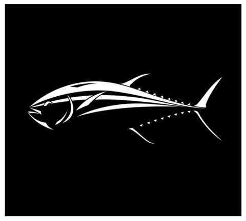 Tuna Decal - Car Window or Boat Bluefin Tuna Fish Sticker