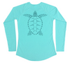Swim Shirt for Women - Sea Turtle UV Protective Long Sleeve Shirt