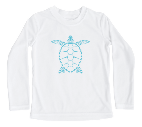 Toddler Swim Shirt - Sea Turtle Long Sleeve UPF Sun Shirt