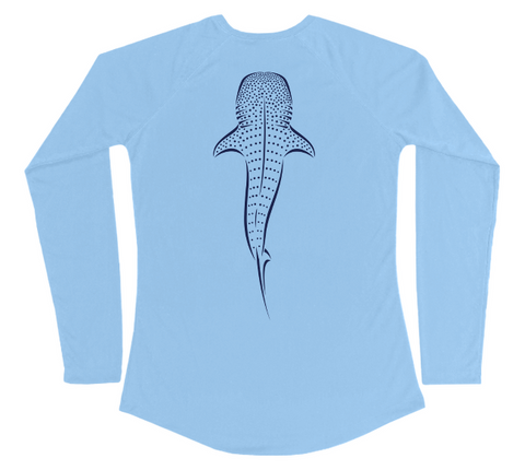 Whale Shark Swim Shirt - UV Protective Ladies Whale Shark Shirt