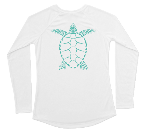 Sea Turtle Performance Build-A-Shirt (Women - Back / WH)