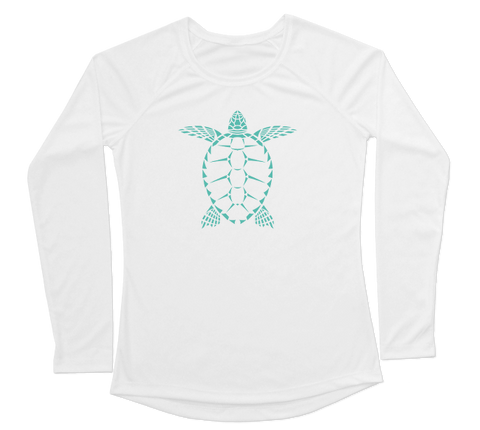 Sea Turtle Performance Build-A-Shirt (Women - Front / WH)