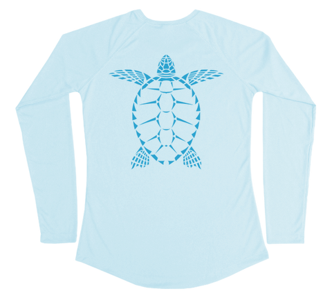 Sea Turtle Performance Build-A-Shirt (Women - Back / AB)