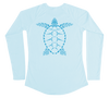 Special Edition Sea Turtle Performance Shirt (Women / Arctic Blue / PRE-ORDER ONLY)