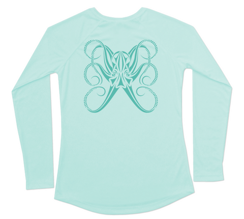UV Beach Shirt | Ladies Long Sleeve Octopus Up To UPF 50