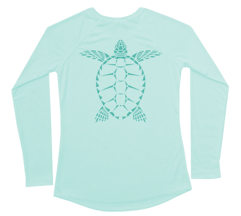 Sea Turtle Performance Build-A-Shirt (Women - Back / SG)
