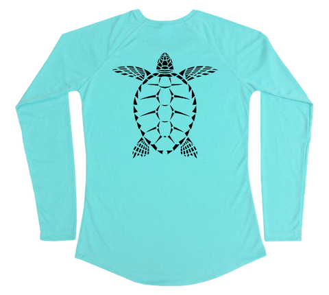 Sea Turtle Performance Build-A-Shirt (Women - Back / WB)