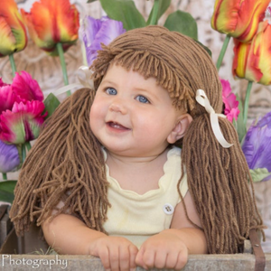 Cabbage Patch inspired Wig - Cafe Pigtail Hat