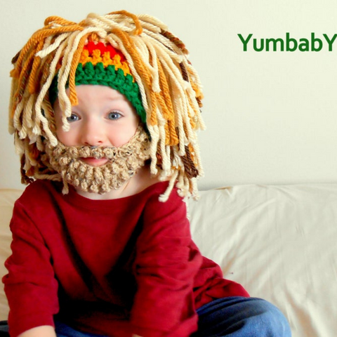 Rasta Hat - Style 3 Full Blonde wig with detachable Beard