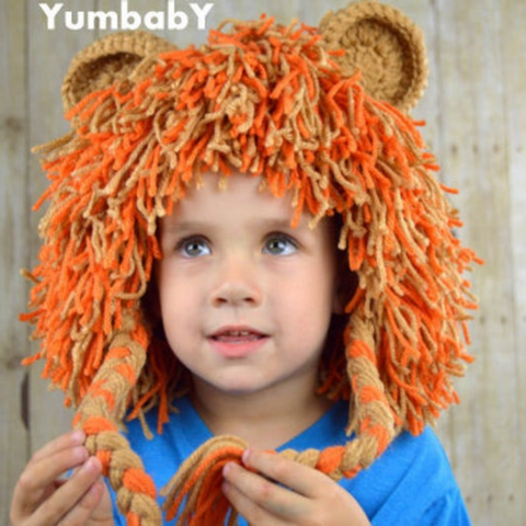 Lion Hat - Orange Mix