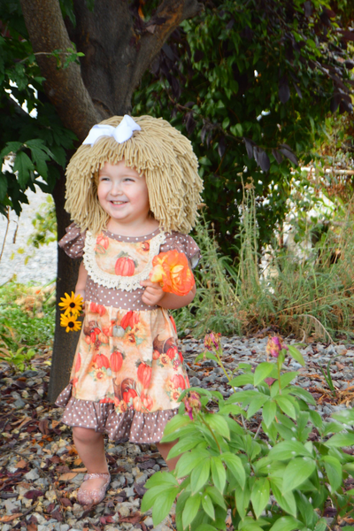 Cabbage Patch Costume and Wig - pumpkin
