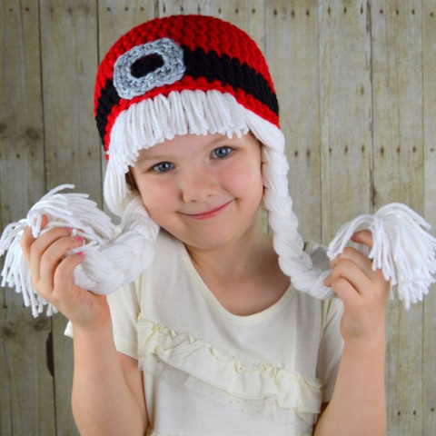 Beanie Braids  - Mrs. Claus