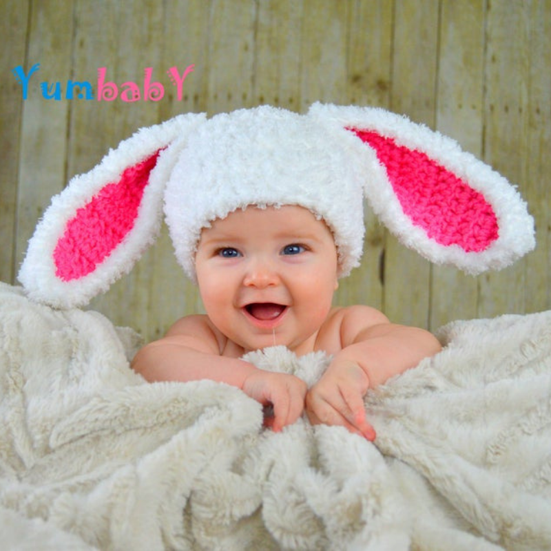 Flopsy Bunny - White with Pink ears