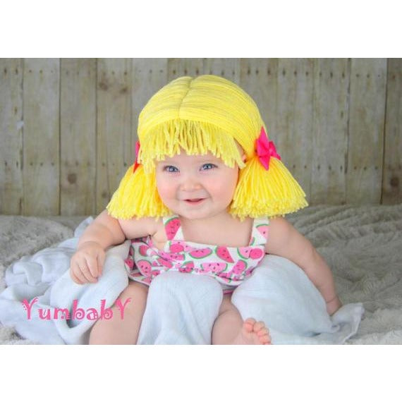 c1028fdfd37 Pigtail hat - Short Blonde – YumbabY Boutique