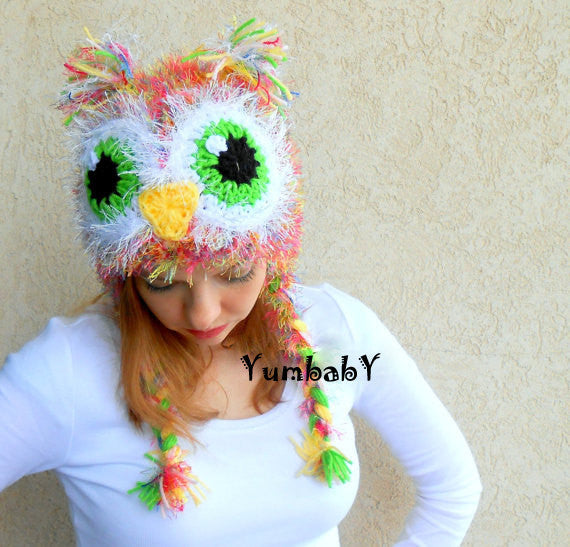 Owl - Pink owl hat