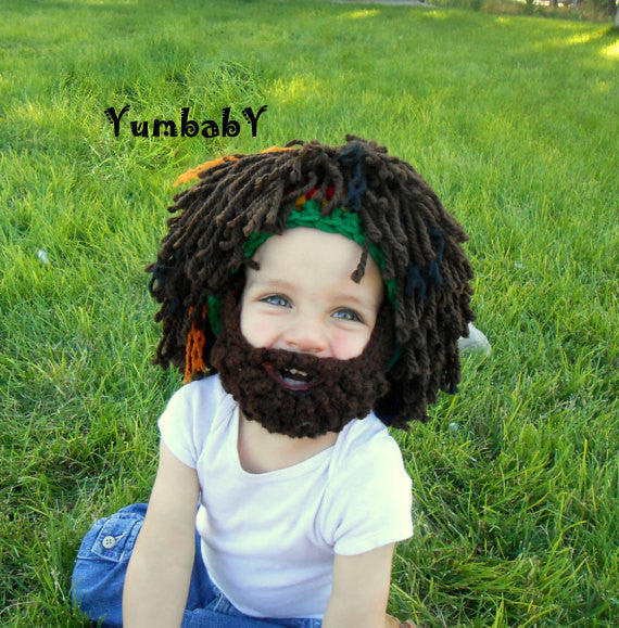 Rasta Hat - Style 2 Full dreadlocks wig with detachable beard