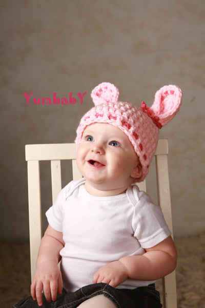 Cutie Pie Bunny - Pink with Bows