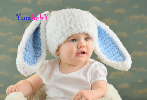 Flopsy Bunny - White with Blue ears