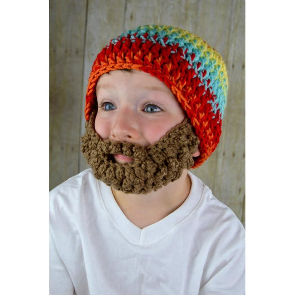 Beanie Beard - Red, Yellow, Aqua, Orange