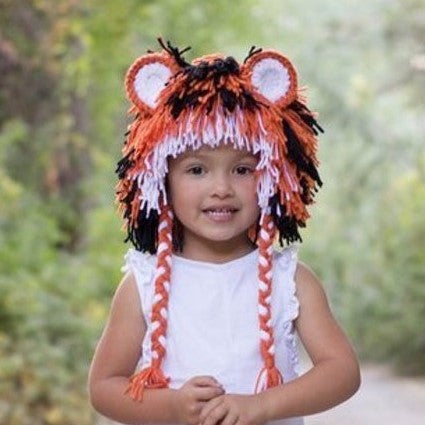 Tiger Hat - Orange Black and White
