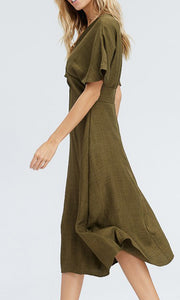 the FOREST linen dress