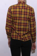 Load image into Gallery viewer, 1980's western mustard plaid shirt